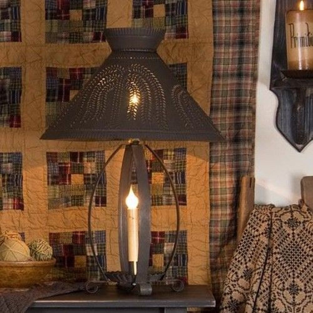 Details About BETSY ROSS COLONIAL TABLE LAMP W Pierced ...