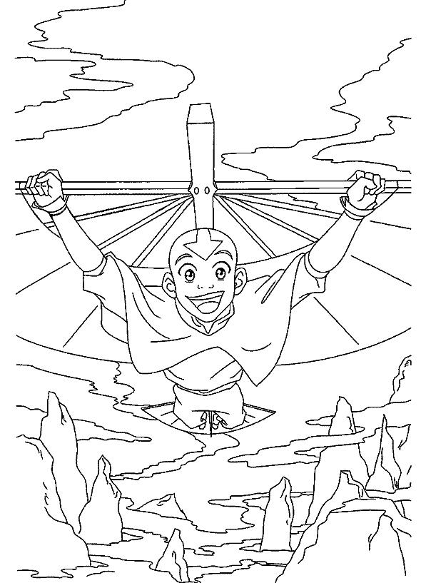 Excepcional Avatar El último Maestro Aéreo Para Colorear Imágenes ...