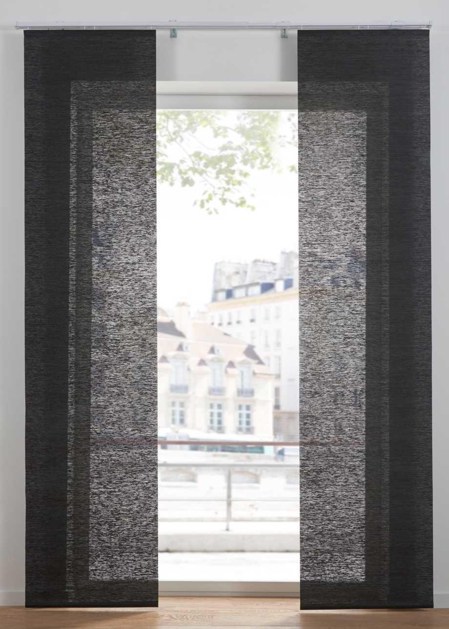 Blickdichte Schiebegardine In Modernem Design Natur Klettschiene In 2020 Schiebegardine Gardinen Blickdicht