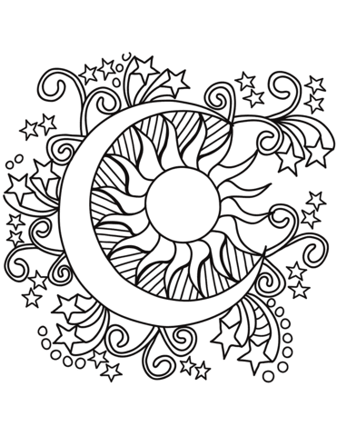 Coloring Page Of Sun
