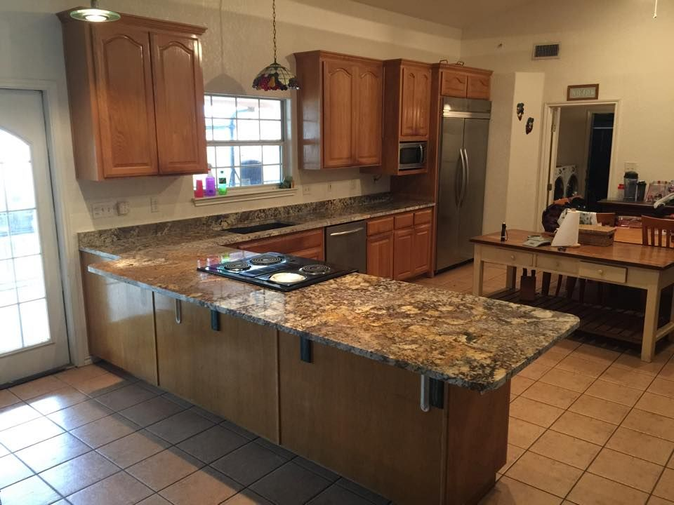 Yucatan Granite   Custom Kitchen Countertops   Undermount Sink   Blanco  Granite Composite   Kitchen Remodel   San Antonio Texas
