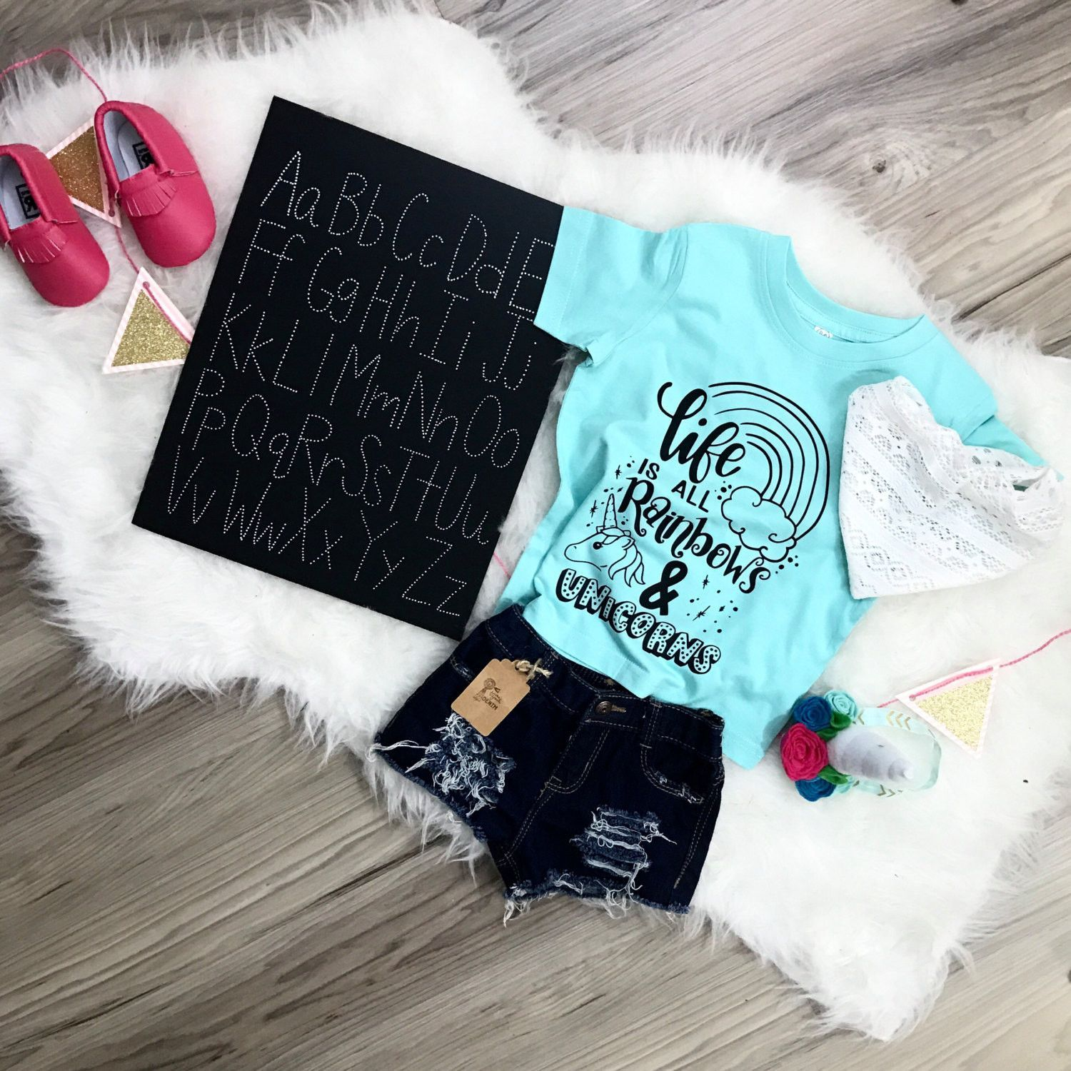 1687d0d2888 Trendy Kid Tee Life is All Rainbows and Unicorns inspirational  anti-bullying happy positive shirts quote toddler Infant Shirt Bodysuit Tees