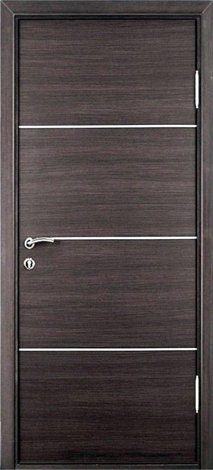 Fotos de puertas batientes enchapads de madera con for Puertas de madera minimalistas