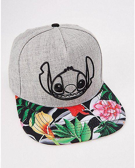 cf440bcd561 Floral Stitch Snapback Hat - Lilo   Stitch - Spencer s