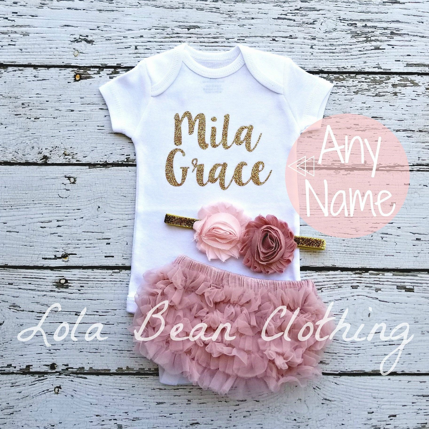 83a518b35103 Custom Baby Girl Coming Home Outfit