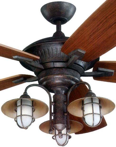 Rustic Copper Indoor Outdoor Ceiling Fan