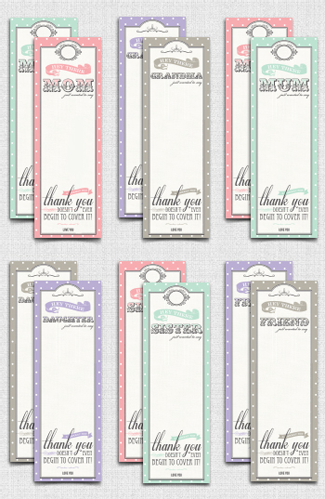 FREE Printable Bookmarks For Mothers Day