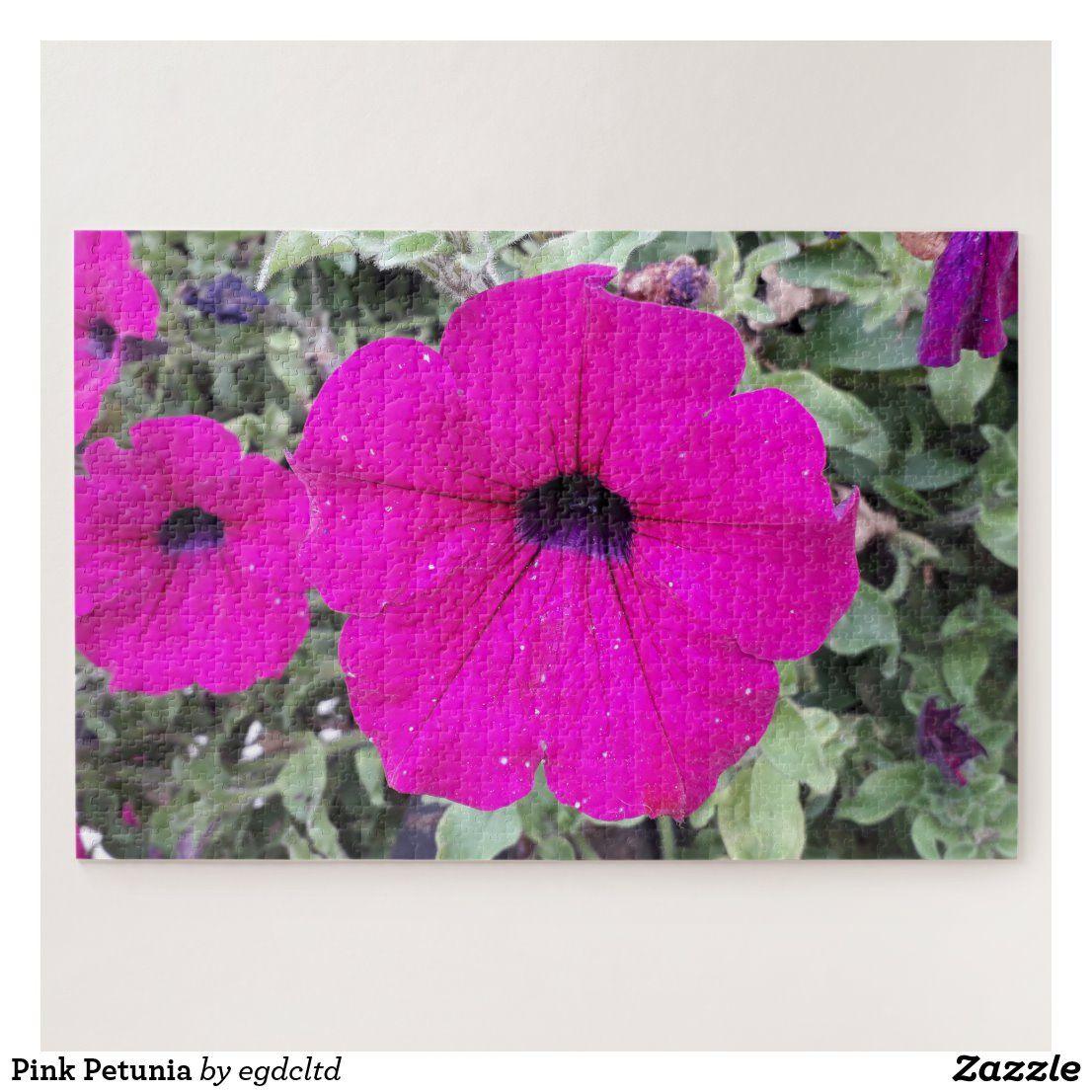 Pink Petunia Jigsaw Puzzle Zazzle Com In 2020 Petunias Jigsaw