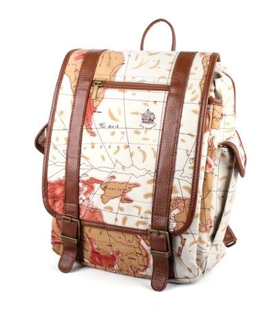 World map printed leather backpack square backpack by prettybag world map printed leather backpack square backpack by prettybag 2800 gumiabroncs Gallery