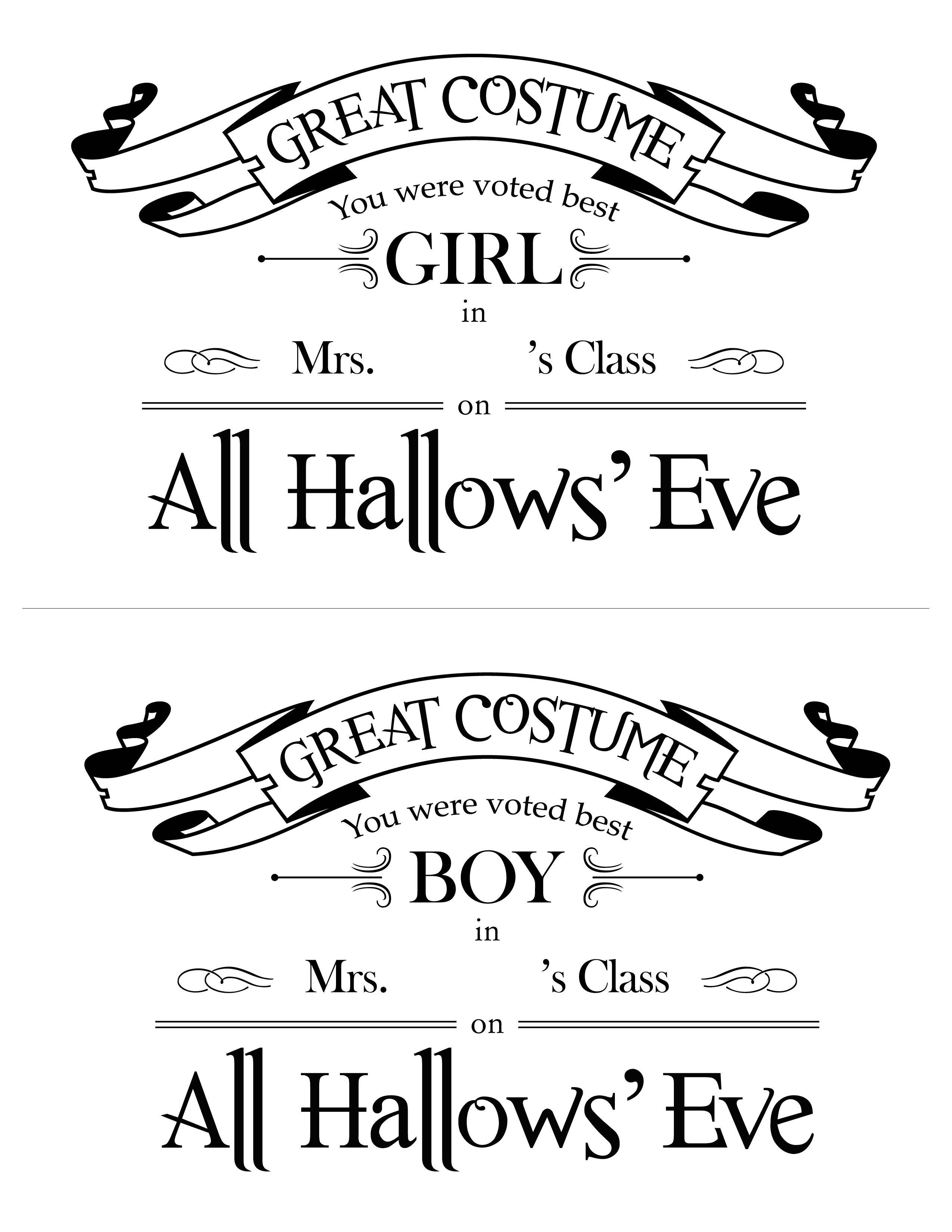 Halloween best costume in class certificates halloween halloween best costume in class certificates 1betcityfo Gallery