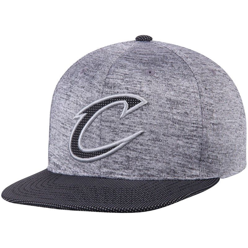 8970509d839 Cleveland Cavaliers Mitchell   Ness Space Knit Snapback Adjustable Hat -  Heathered Gray Black