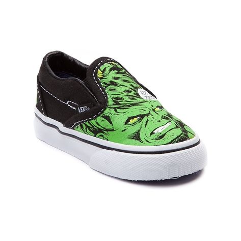 high quality materials sale usa online sale retailer Toddler Vans Slip-On Incredible Hulk Skate Shoe, Green, at ...