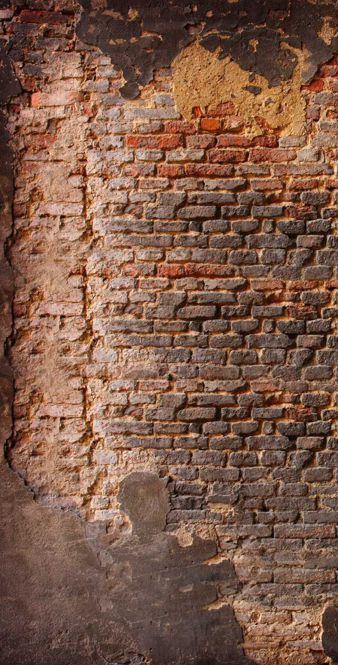 Printed Background Distressed Brick Wall Backdrop