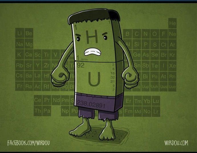 Chemical Avenger Hulk Hu By Wirdou Chemistry Chemistry Humor Fun Science