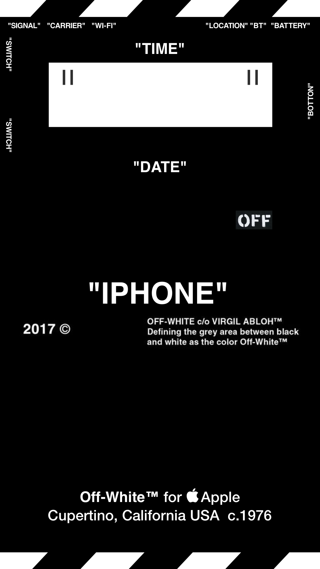 """Off-White™ """"OFFWHITE"""" """"WALLPAPER"""" """"IPHONE"""" """"壁紙"""" """"TYPE B""""   Black wallpapers"""