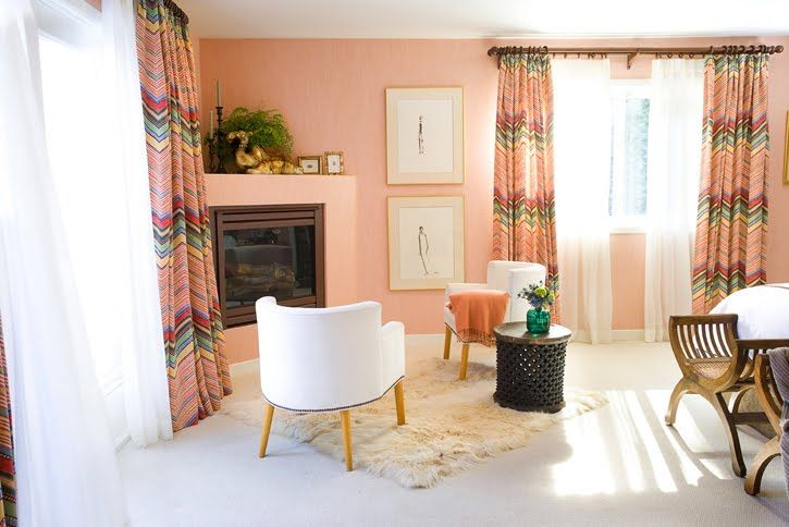 Light Peach Curtains Google Search Pink Room Home Space Decor #peach #living #room #curtains