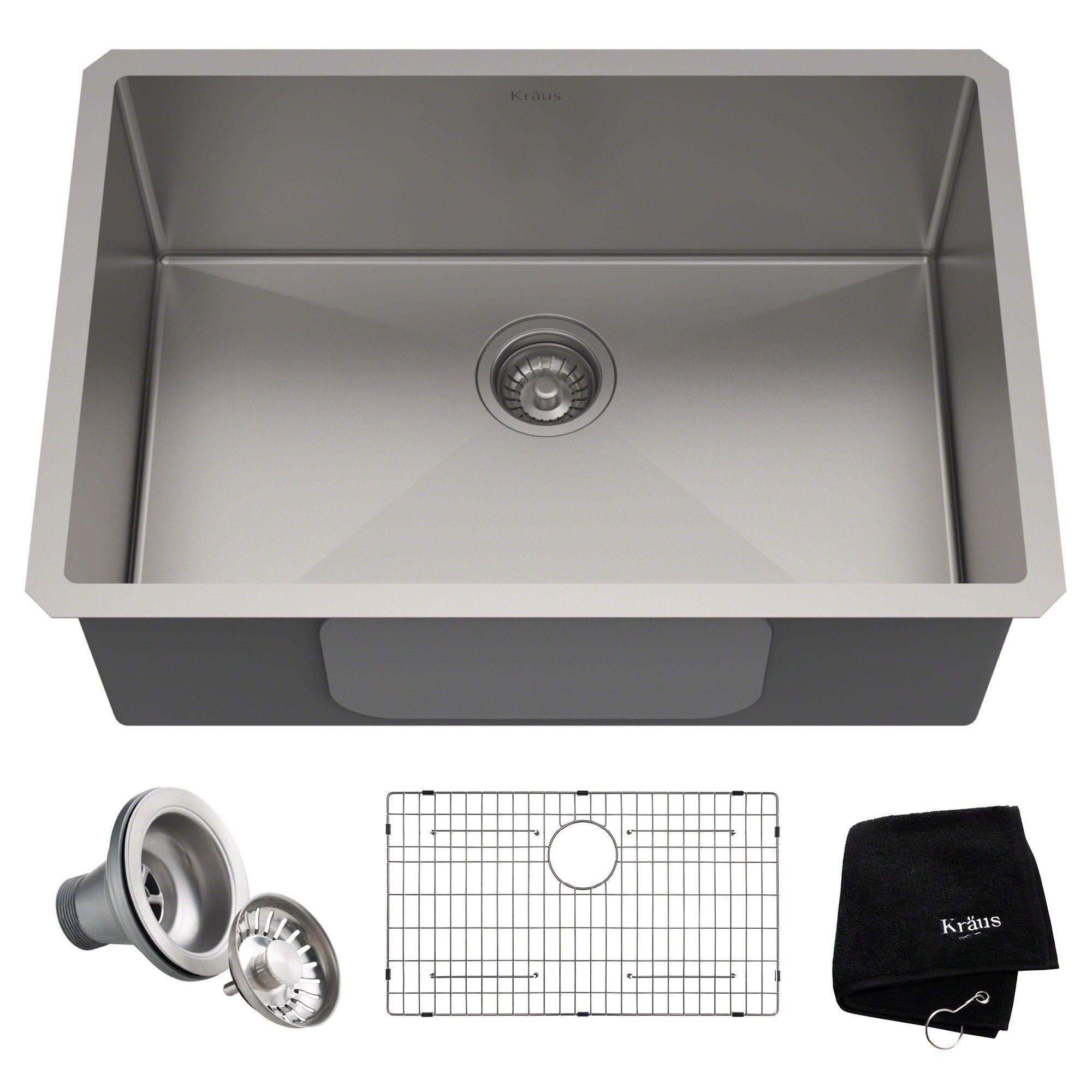 Kraus Khu100 28 Kitchen Sink 28 Inch Stainless Steel
