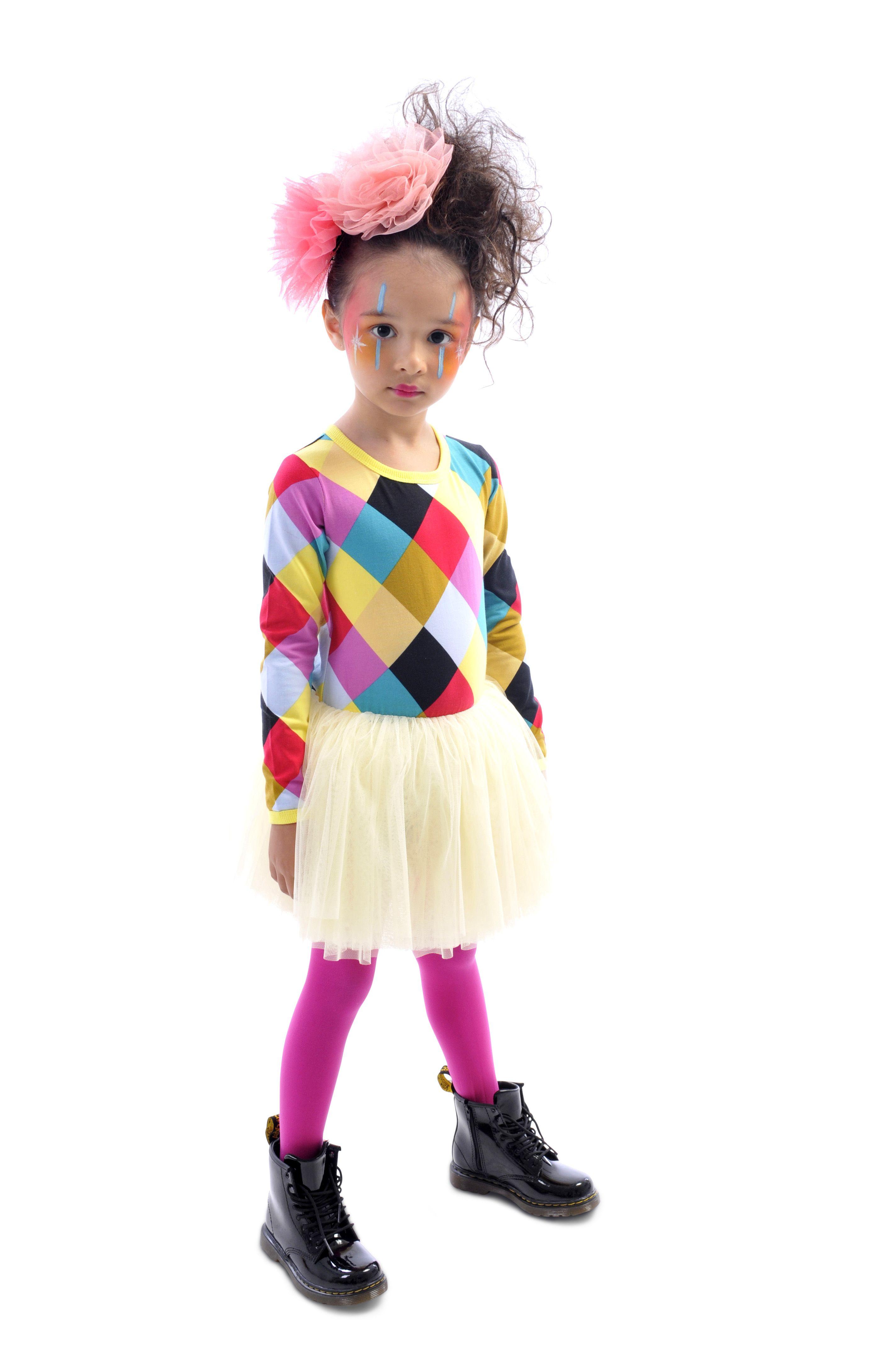 Hair Makeup Harlequin Circus Dress Rock Your Kid Winter 2014