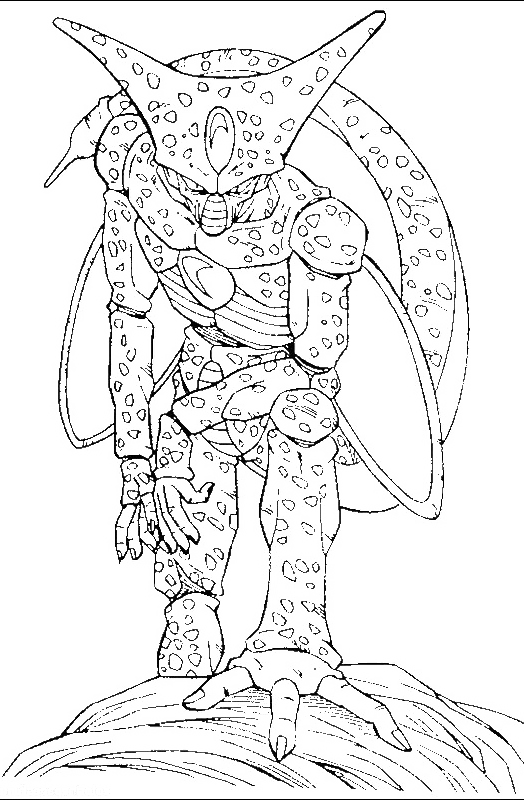 Dragon Ball Monster Cell Coloring Pages - Dragon Ball Coloring Pages ...