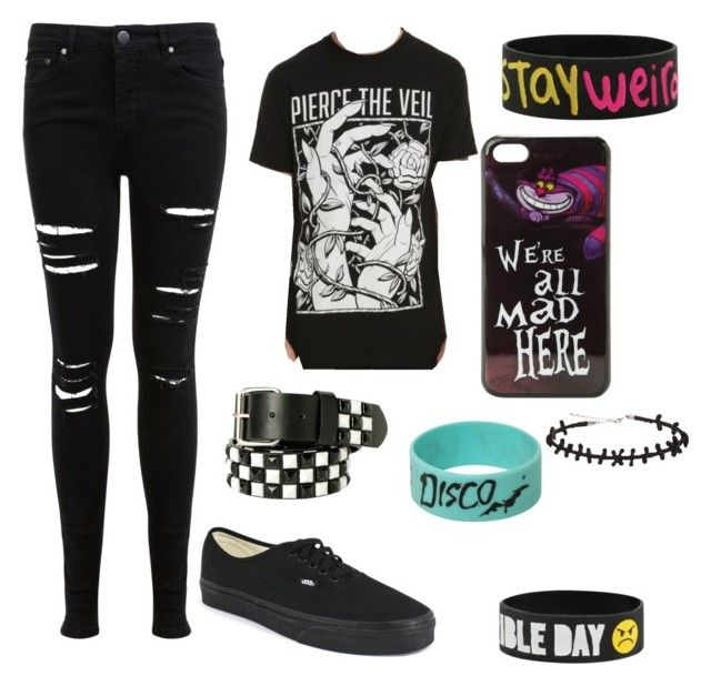 """""""Untitled #63"""" by edithisonfire on Polyvore featuring Miss Selfridge, Disney and Vans"""