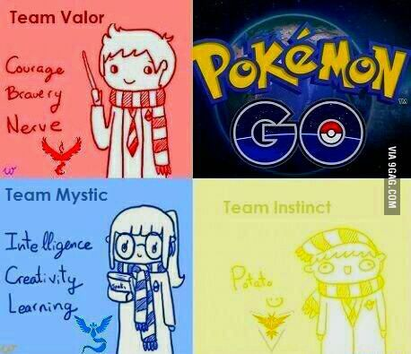 What each team is like...choose wisely   Pokemon go team ...