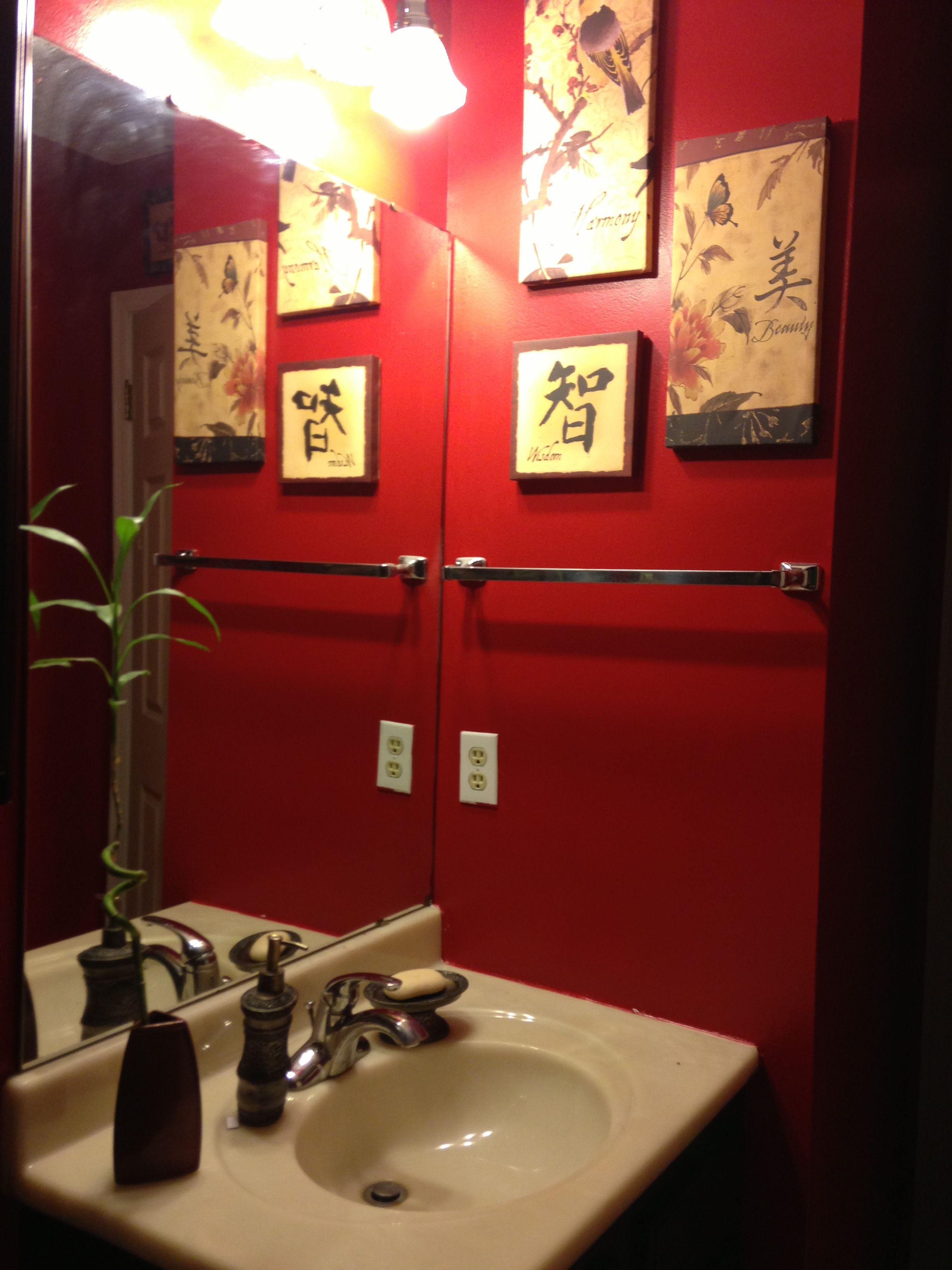 Chinese Bathroom Decor Canvas Pictures Found At Family Dollar For $15My Chinese