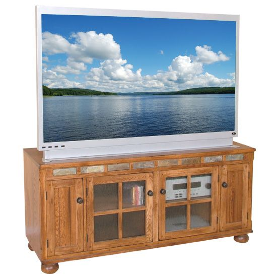 Image Detail For  Sunny Designs 2754Ro Sedona Tv Console, 62W   Country  Wood Furniture