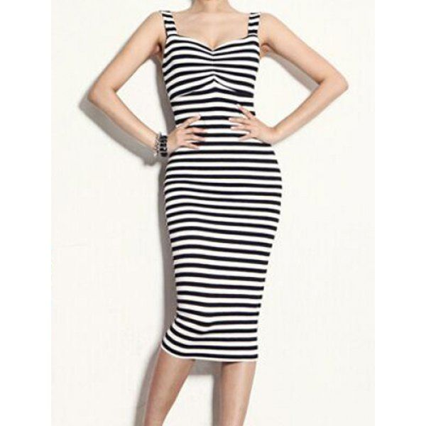 Black and white striped dress #summer #dress #style