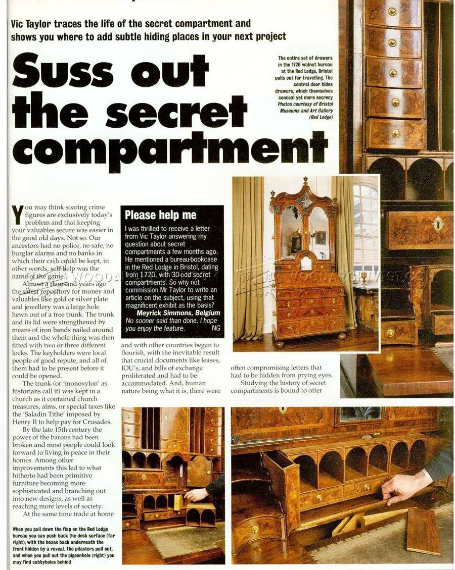 Secret compartment furniture furniture plans secret compartment
