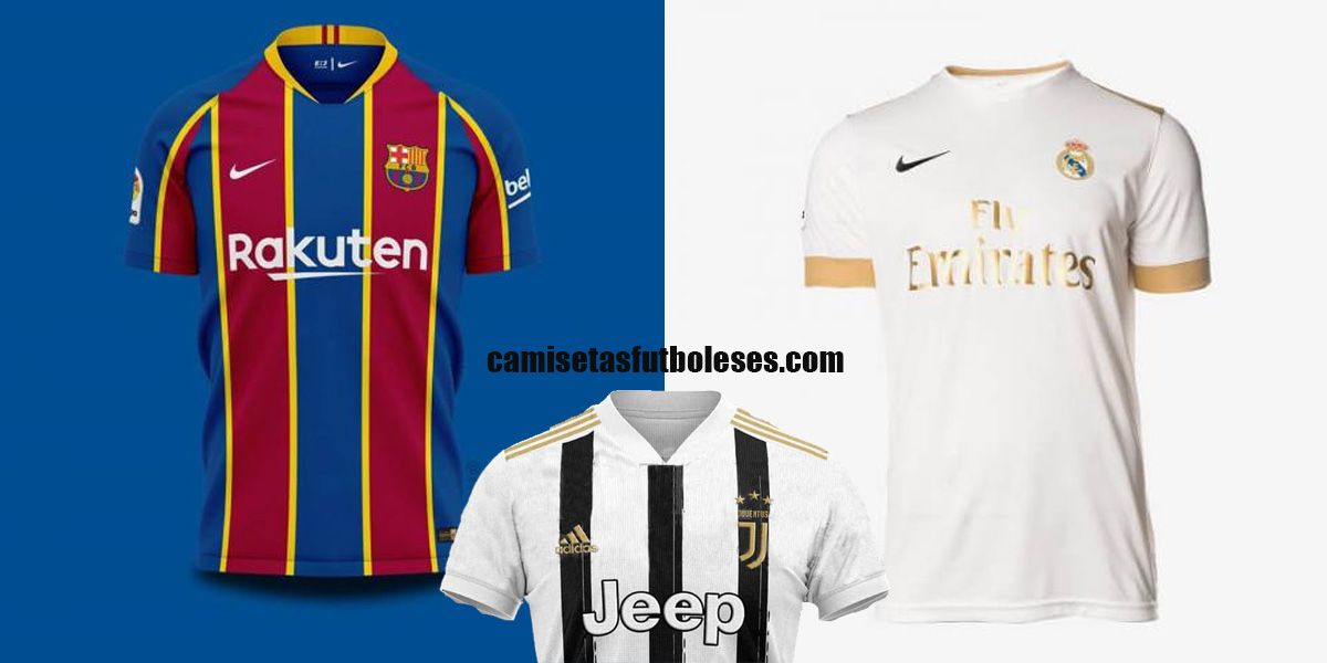 Camisetasfutboleses Com New 2020 2021 Football Kits Real Madrid Juventus Barcelona All The Top Clubs Shirts Je In 2020 White Jersey Football Kits Club Shirts