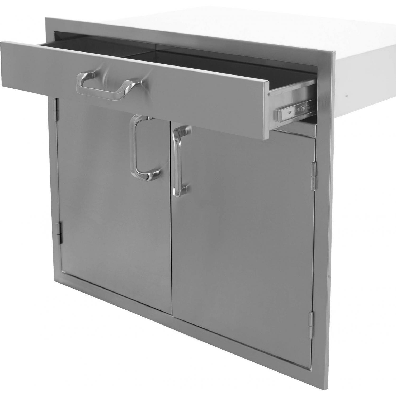 Bbqguys Signature Series 30 Inch Stainless Steel Double Door Single Drawer Combo Bbqguys Steel Double Doors Drawers Storage Drawers