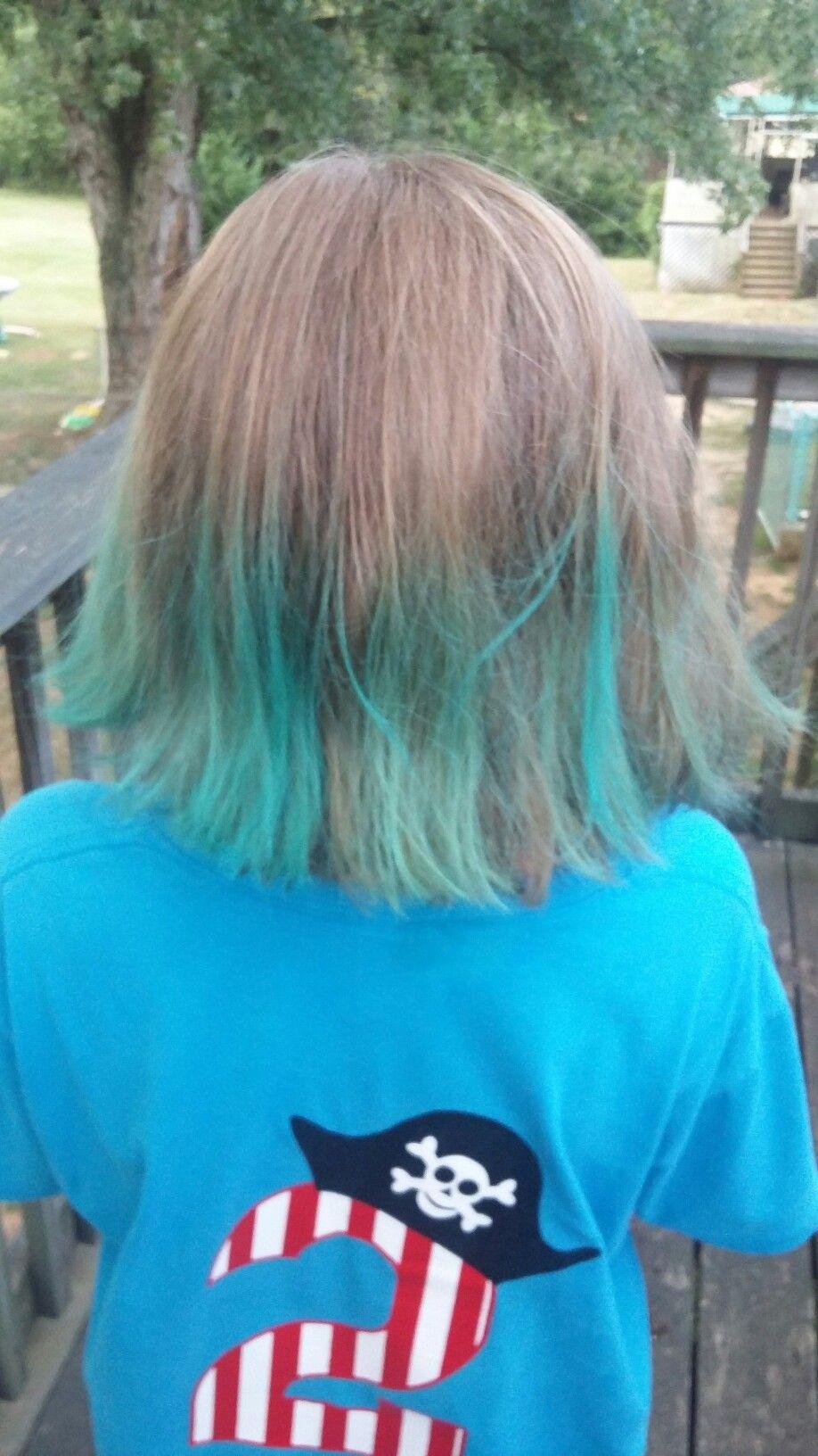 used kool-aid to dye her hair. She loves it