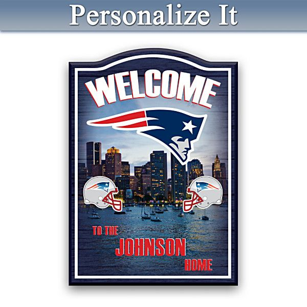 Dallas Cowboys Welcome Home Sign: Patriots Wooden Welcome Sign Personalized With Name