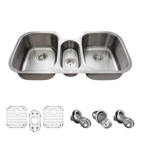 Mr Direct 42 75 In X 20 75 In Stainless Steel Triple Basin