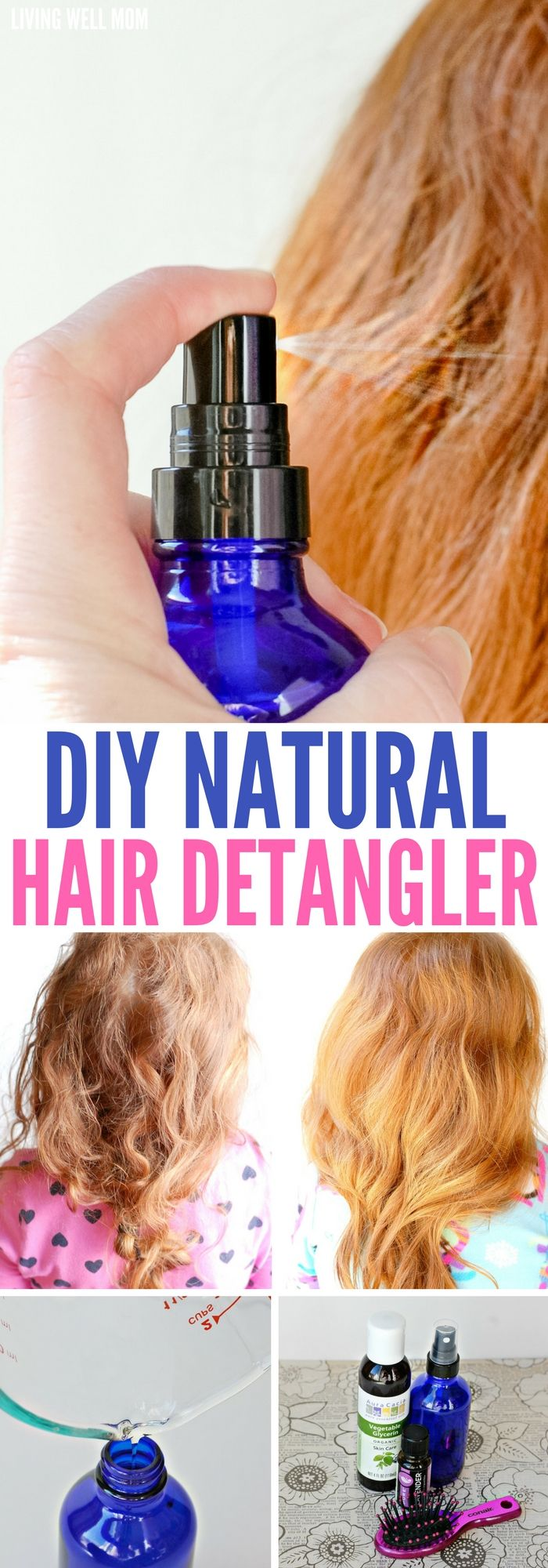Diy Natural Hair Detangler With Essential Oils Hair Detangler Natural Hair Diy Diy Hair Detangler