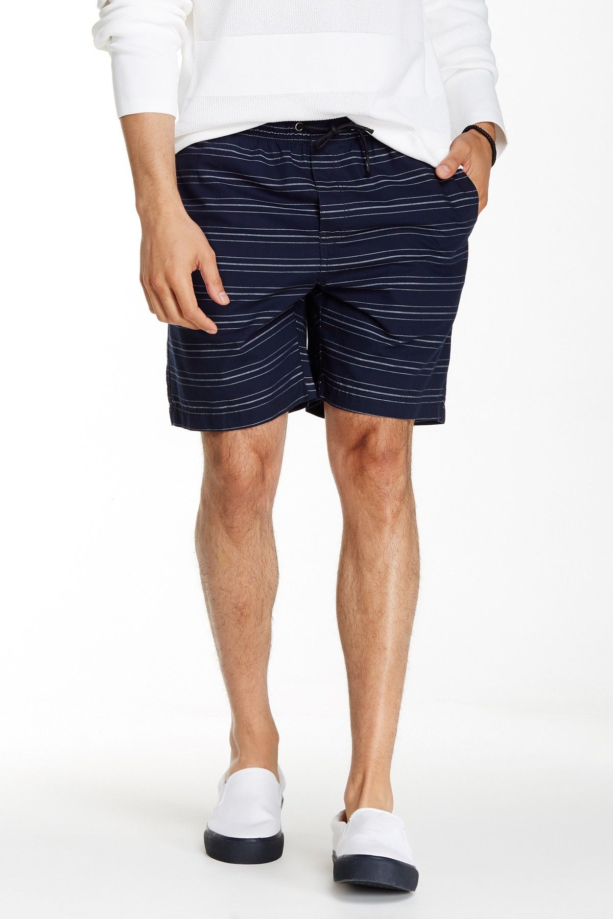 Striped Drawstring Short