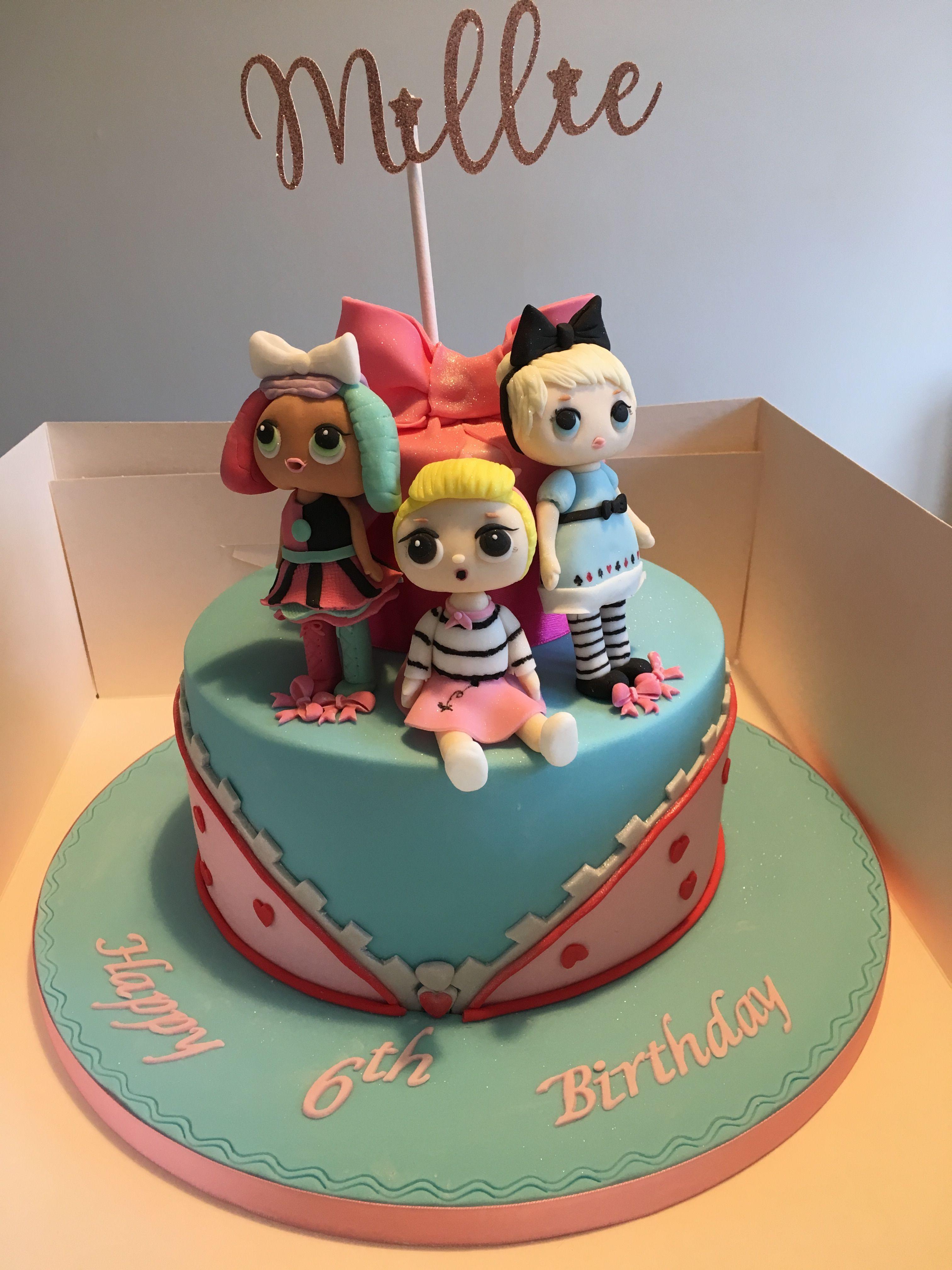 Lol doll birthday cake lol doll cake doll birthday cake