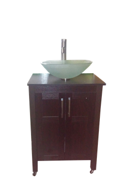 Glass Basin Portable Sink Wood Cabinet By Monsam Portable Sink Wood Cabinets Glass Basin