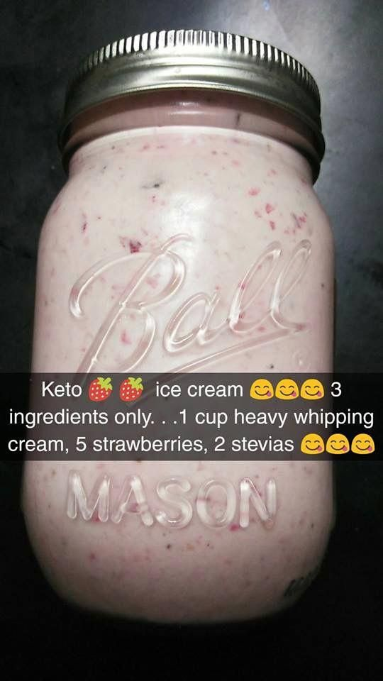 Strawberry ice cream #healthyicecream #ketoicecream
