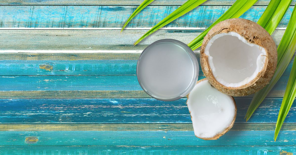 Coconut Oil is rich in fatty acids, which replenish skin's vital substances to keep it looking healthy and young.