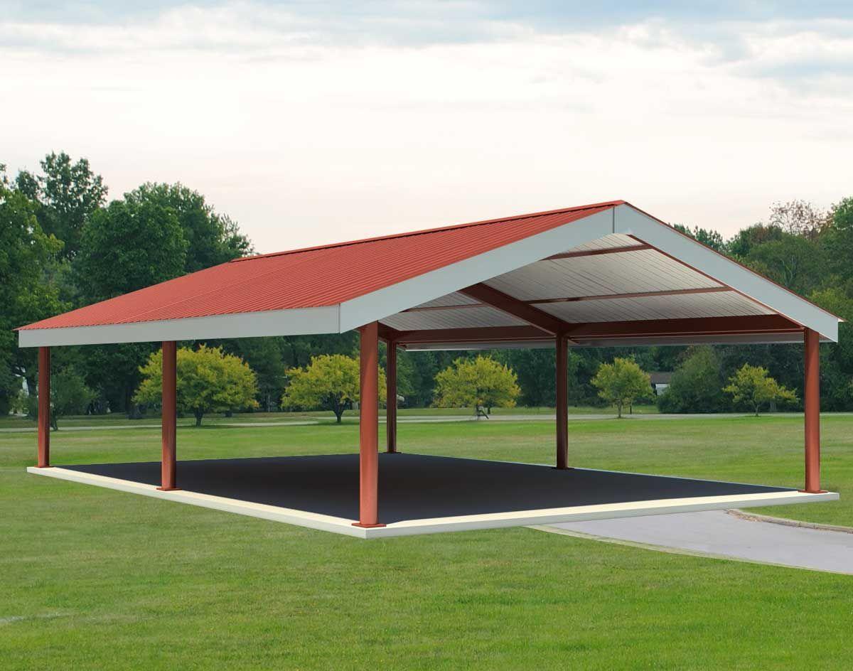custom metal pavillion Steel IBeam Single Roof Savannah