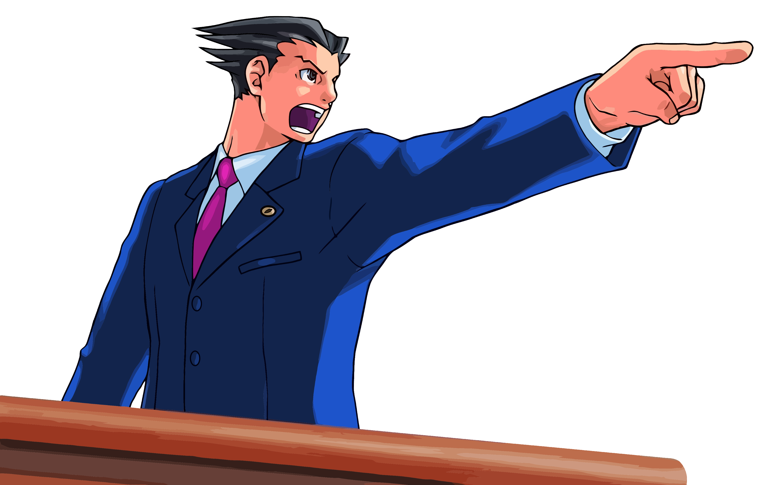 Download Ace Attorney Pointing Png Image For Free Phoenix Wright Attorneys Ace