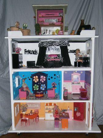 Diy Dollhouse For Barbie Size Dolls Children S Toys Diy