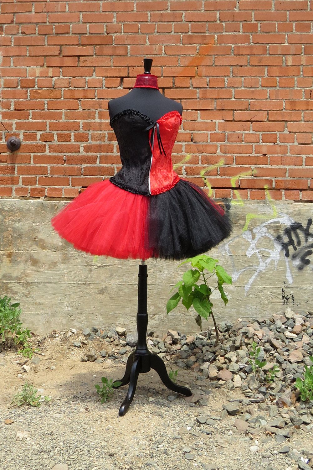 Adult Harley Quinn Costume Tutu Beautiful Red And Black Tulle Skirt For Your Halloween