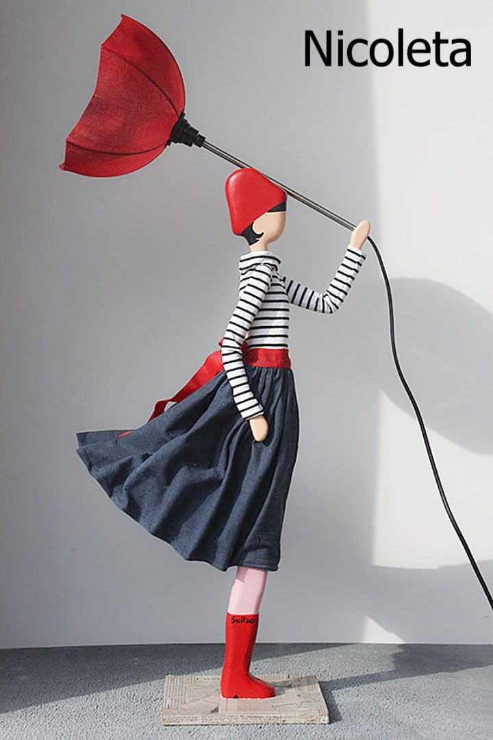 Skitso Figurenlampen Design Deckenleuchten Figuren Loftambiente Ch Holztischlampen Figur Frau Lampe
