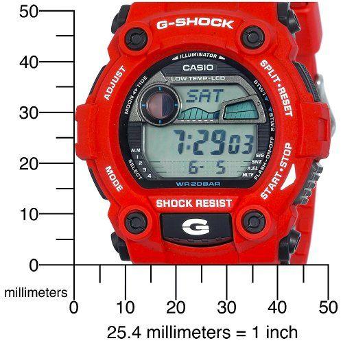 60eadd1e6274 Casio Men s G7900A-4 G-Shock Rescue Red Digital Sport Watch