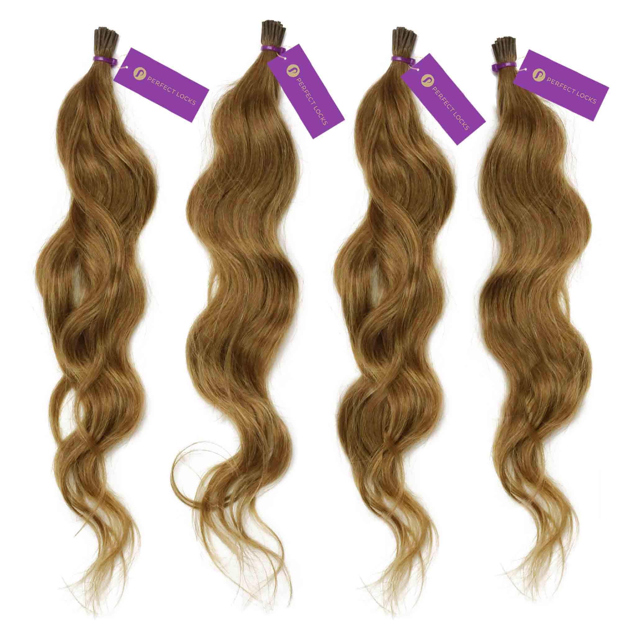 4 X Wavy Fusion I Tip Hair Extension Bundle Deal Fusion Hair