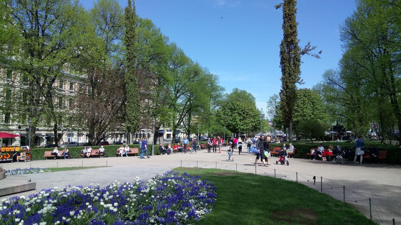 Esplanade in Helsinki |