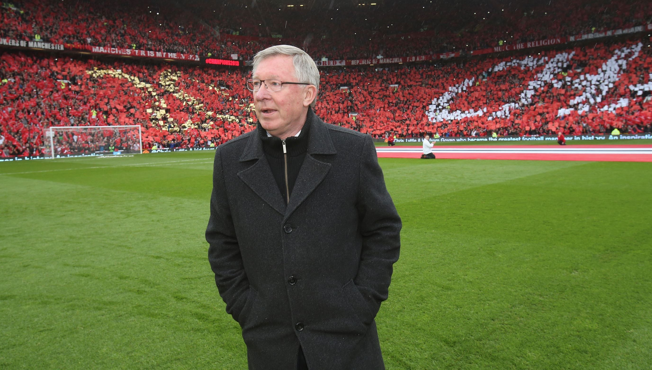 """Sir Alex Ferguson Quote """"Only true champions come out and"""