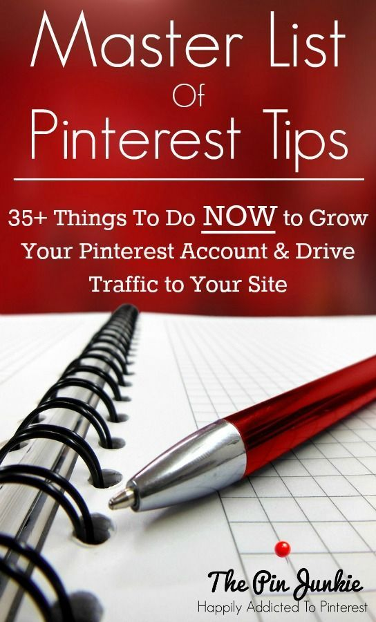 Master List of Pinterest Tips